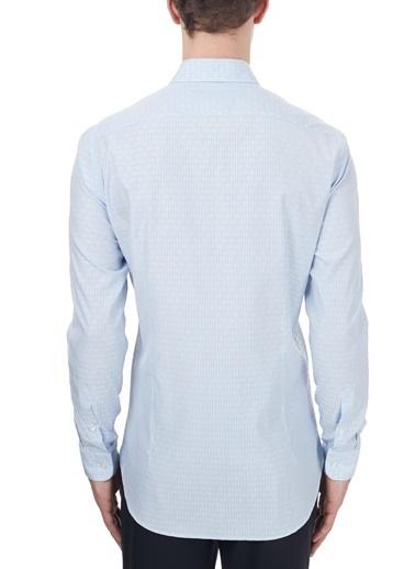 Etro  Pamuklu Düğmeli Yaka Slim Fit Gömlek Erkek Gömlek 1K964 3002 0250 Mavi